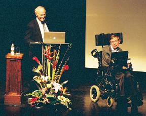 David Gross with Stephen Hawking